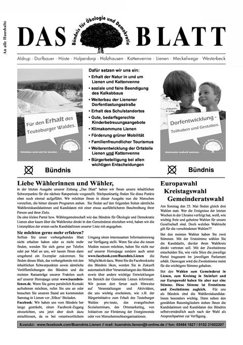 Das Blatt Nr. 16