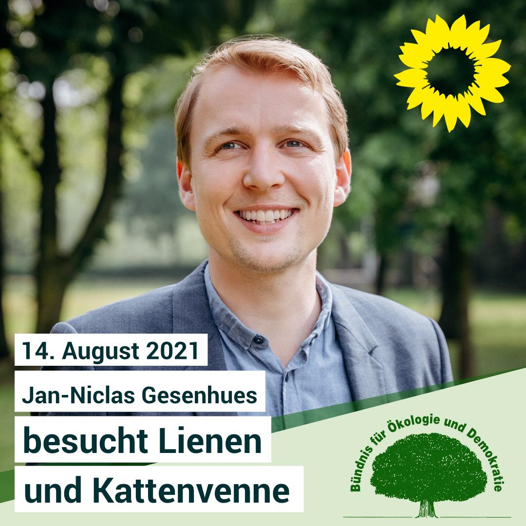 14. August 2021 – Jan-Niclas Gesenhues besucht Lienen und Kattenvenne